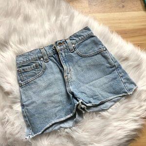Vintage Levi's Silver Tab High Rise Cutoff Shorts